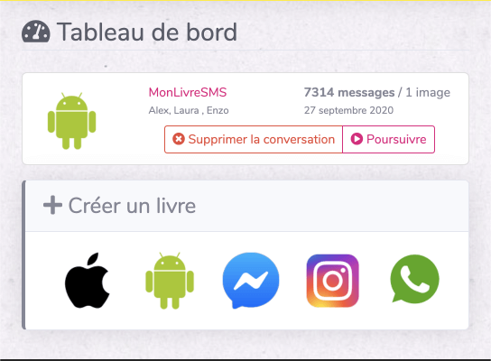 Calcul messages Android monlivresms