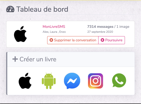 Calcul messages iphone monlivresms