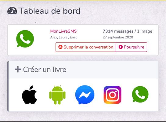 Calcul messages whatsapp monlivresms