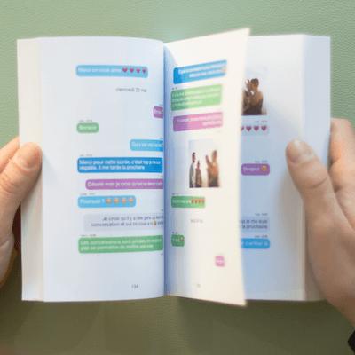 Comment sauvegarder et imprimer ses messages d'une conversation Facebook Messenger ? Avec MonLivreSMS, sauvegardez, récupérez et imprimez les messages de votre conversation Facebook Messenger dans un livre papier ou eBook.